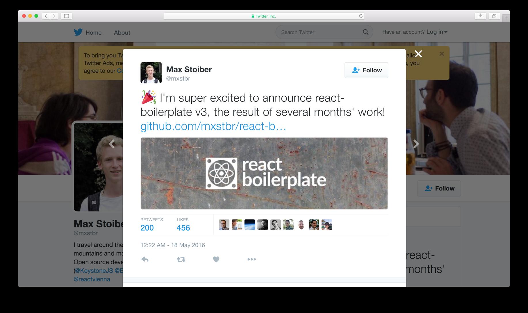 Max Stoiber (@mxstbr) - JavaScript Engineer